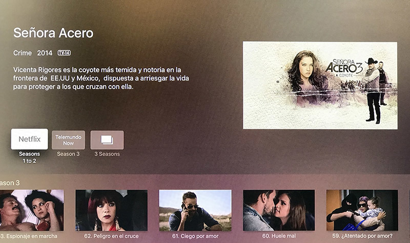 Apple TV universal search gets Telemundo integration