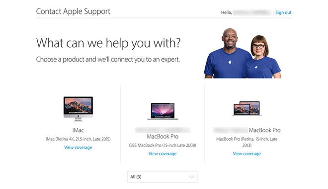 Apple replaces Support Profile web tool with 'Get Support,' limits information to registered devices
