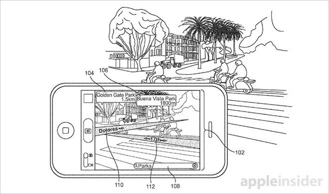 Apple získal patent na rozšířenou realitu v mapách na iPhonech