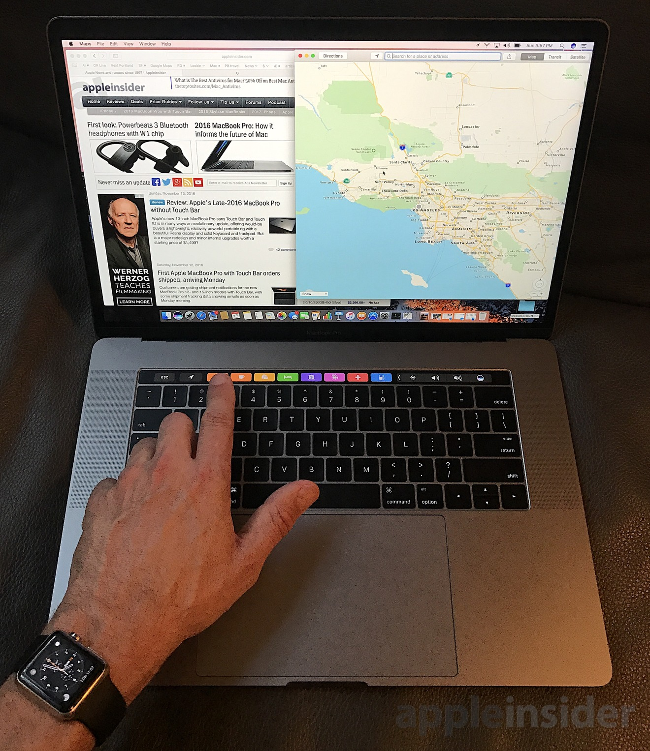 review apple 39 s late 2016 15 macbook pro with touch bar. Black Bedroom Furniture Sets. Home Design Ideas