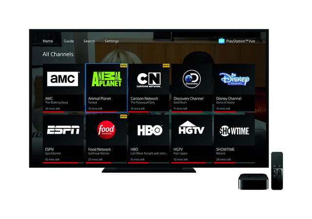 Playstation vue subscription streaming service launches on apple tv
