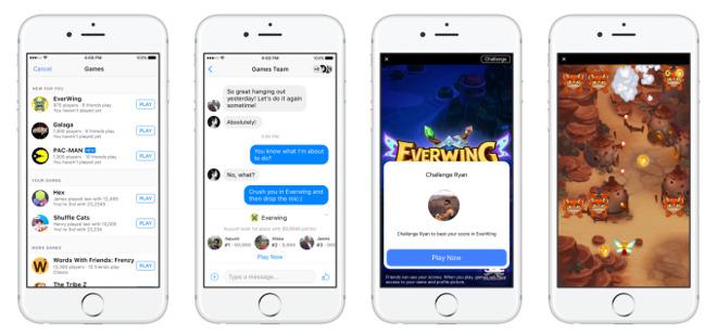 Facebook spustil hry pro Messenger
