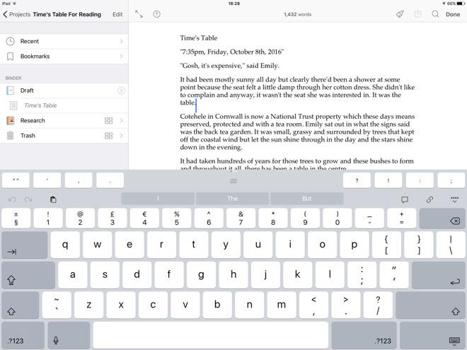 Scrivener ipad release date in Brisbane