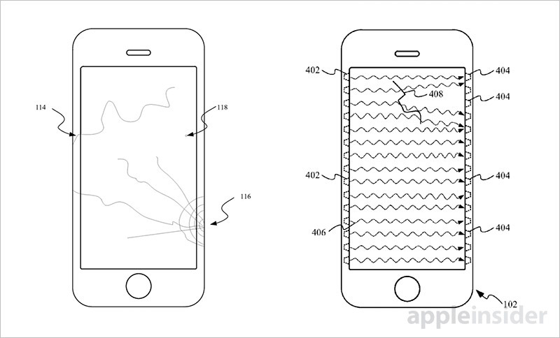 photo image Future iPhones might notify users of cracks in coverglass