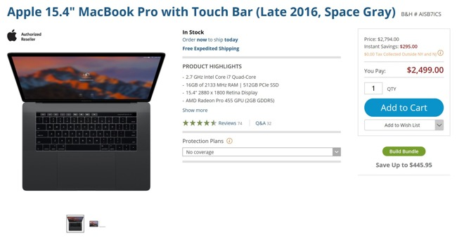 15 inch MacBook Pro Gray