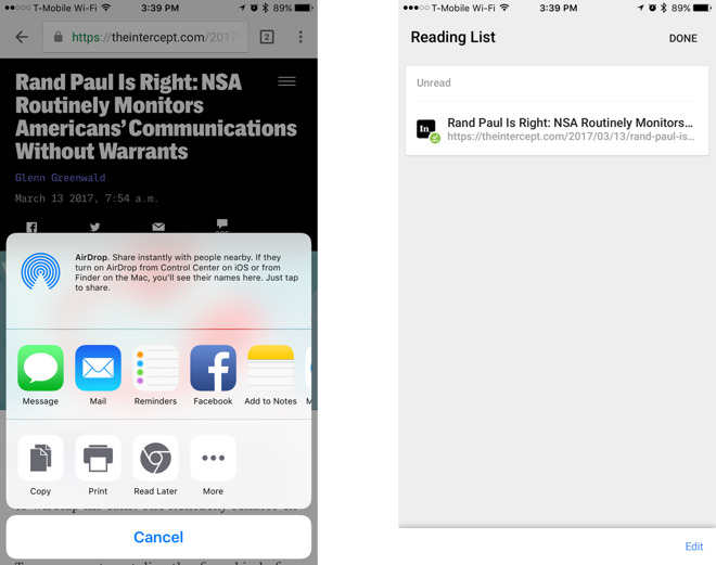 how to delete reading list on iphone 5