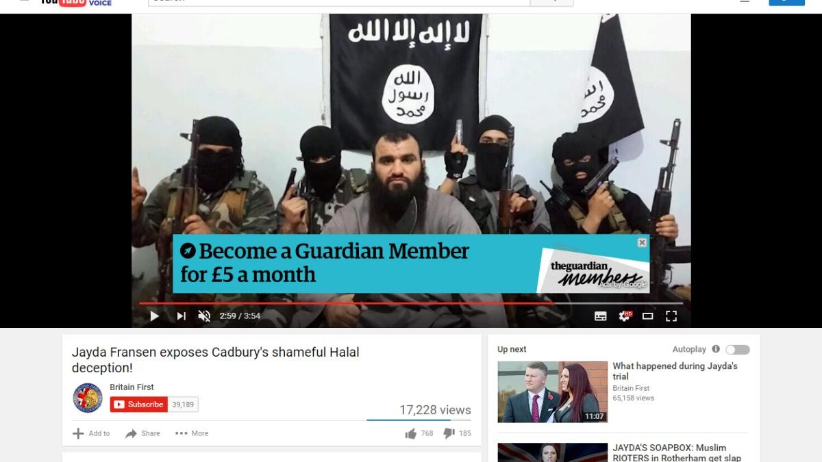 photo image Corporate brands, UK government pull ads from Google's YouTube over extremist hate group videos