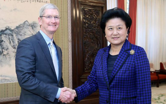 photo image Apple CEO Tim Cook says globalization is 'great for the world' in China speech