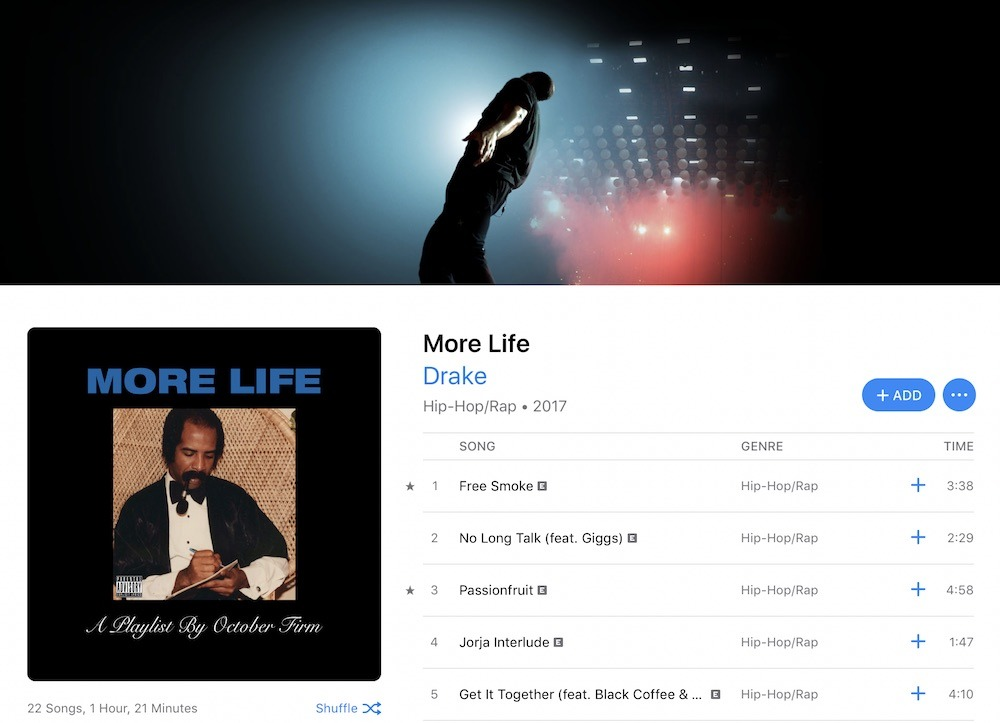Apple Music sets new album streaming record 47% higher than Spotify, despite fewer users [u]