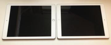 2017 iPad left, iPad Air right