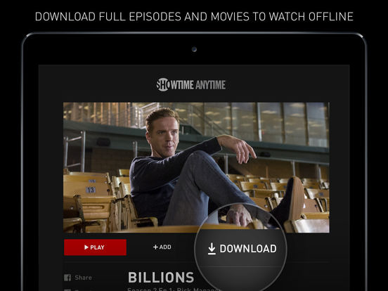 Showtime for iOS adds support for offline downloads