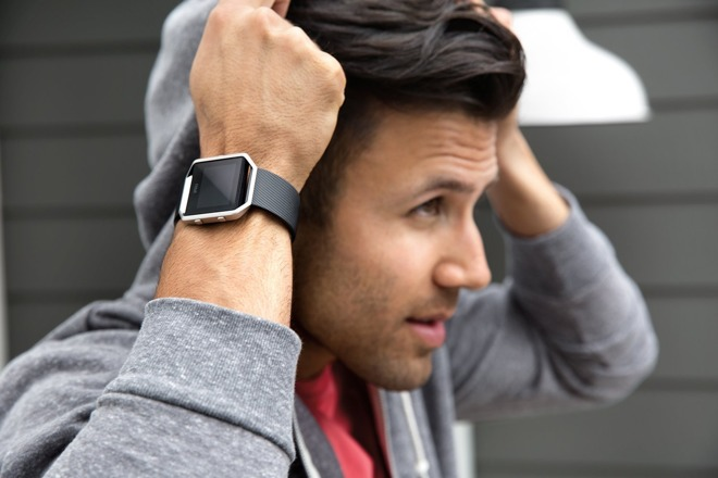 Fitbit's watch-like Blaze fitness tracker.