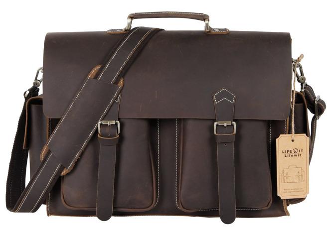 Lifewit Handmade Laptop Messenger Bag