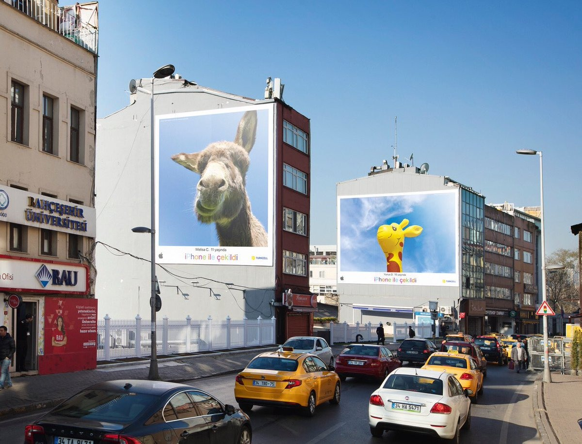photo image Apple's Tim Cook highlights kid-themed iPhone billboard campaign in Turkey