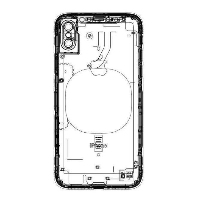 Alleged 'iPhone 8' schematic shows wireless charging pad, no rear Touch ID