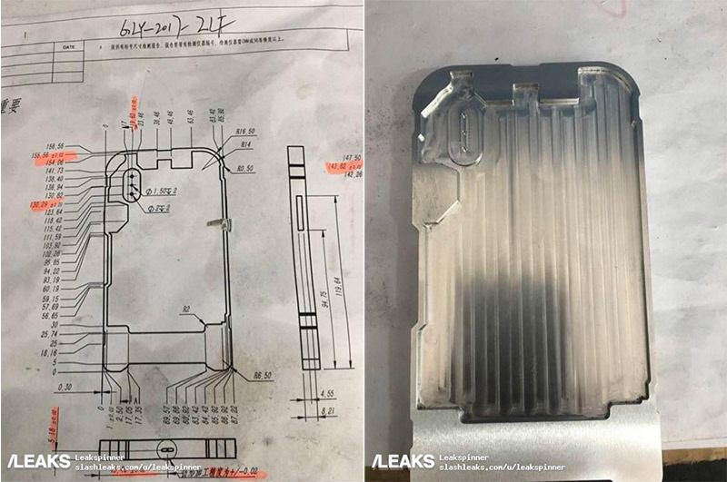 Rumor: New 'iPhone 8' schematic and manufacturing molds revealed in leaked photos