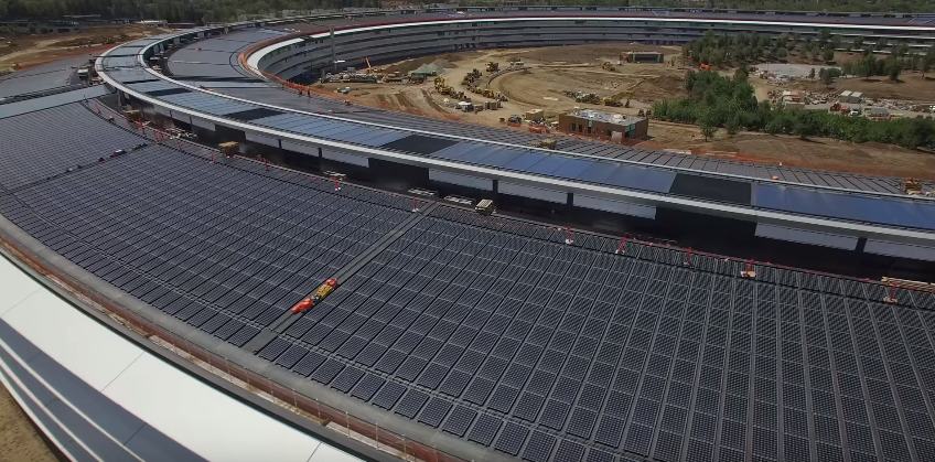Latest Apple Park drone footage shows rough edges in wake of move-in deadline