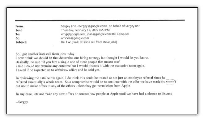 Email from Sergey Brin