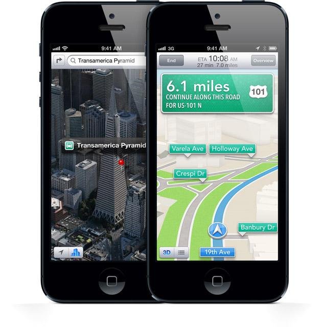 Maps on iPhone 5
