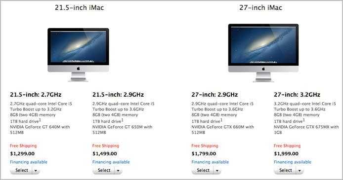 iMac Prices