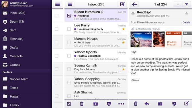 yahoo mail app macbook pro
