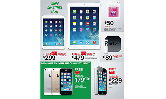Target S Black Friday Ad Highlights 479 Ipad Air With Free 100 Gift Card Other Apple Deals Appleinsider
