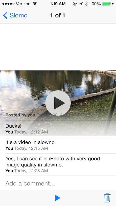 Photos iCloud Photo Stream