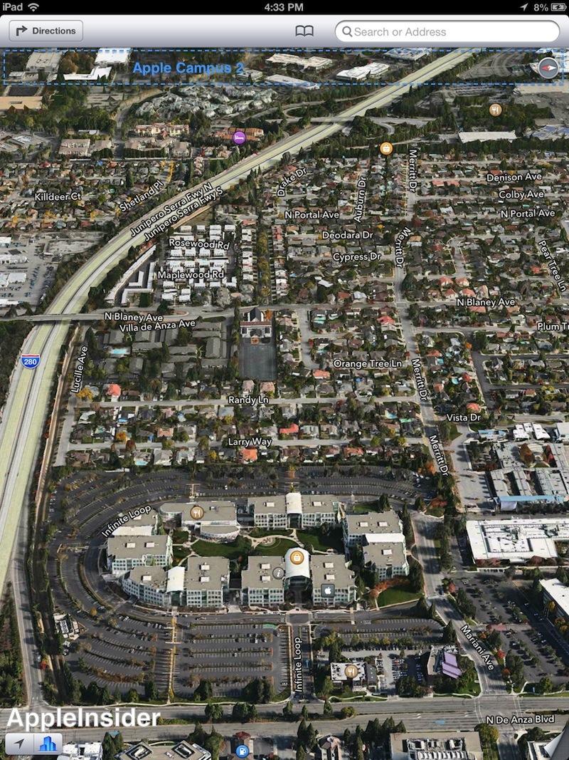 1 Infinite Loop Apple HQ Flyover