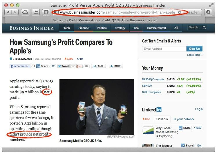 Business Insider oops