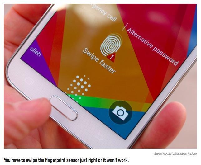 Galaxy S5 fingerprint