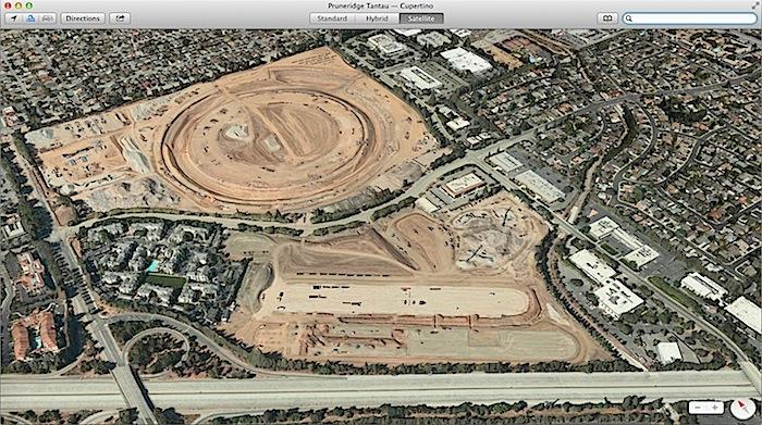 Apple Campus 2 Maps Flyover