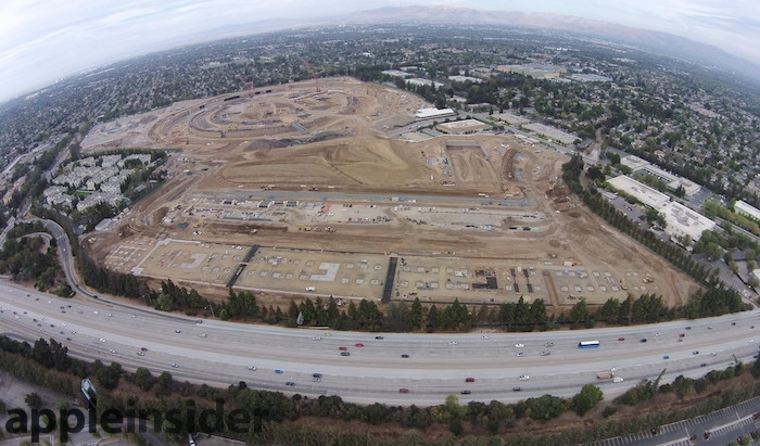 Apple Campus 2 looking north