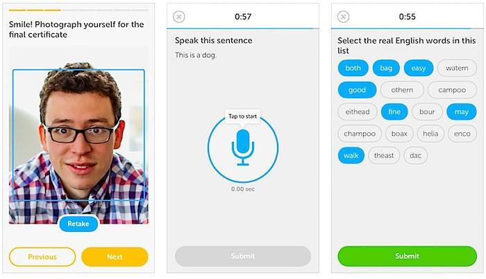 Duolingo's Test Center app