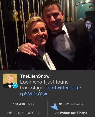 Ellen iPhone Oscars