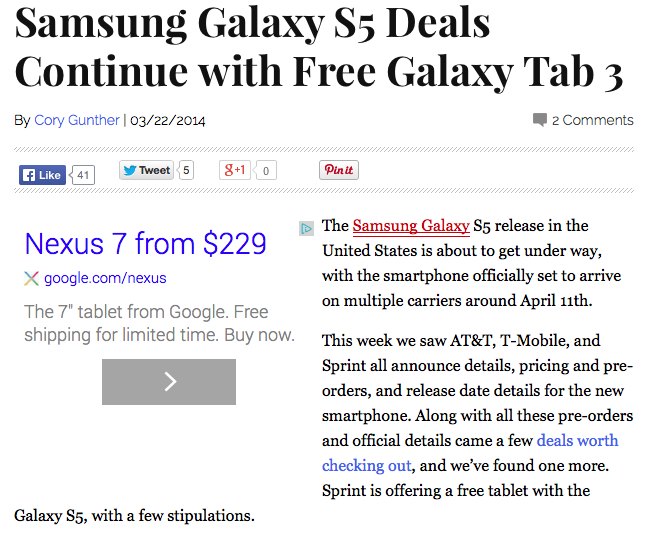 Free Galaxy Tab vs Nexus 7