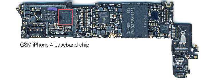 GSM iPhone 4 logic board