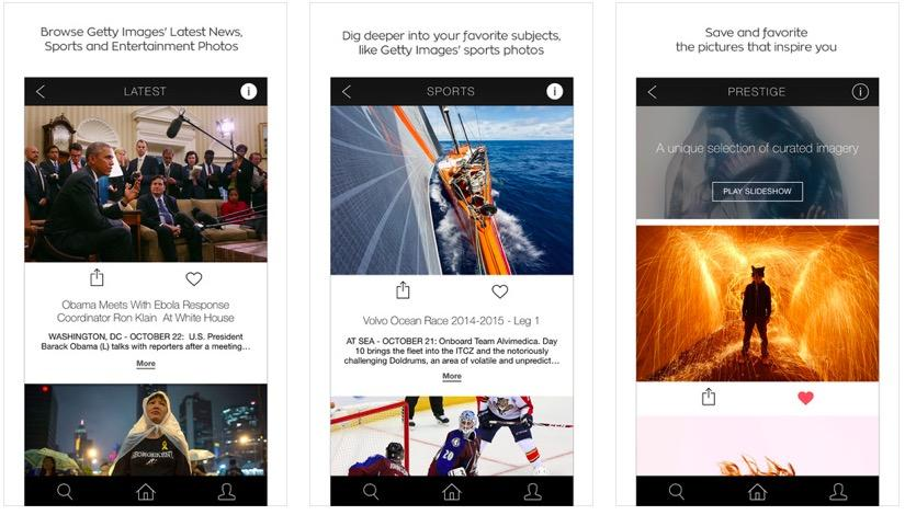 Getty Images Stream app