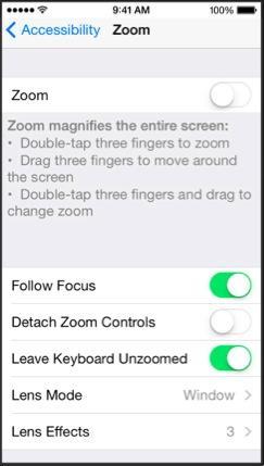 iOS 8 Zoom