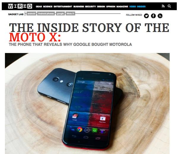 Wired ad for Moto X