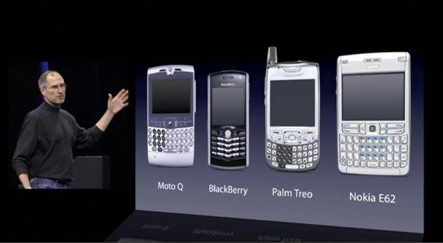 iPhone vs button phones 2007