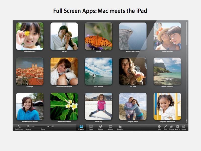 Ful screen apps