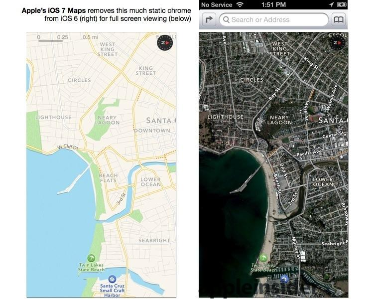 iOS 7 Maps full screen