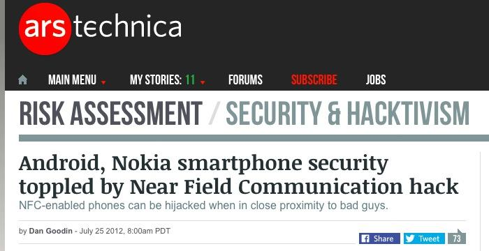 NFC security issues
