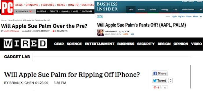 Will Apple sue Palm?