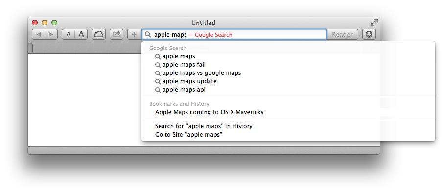 Google on Apple Maps
