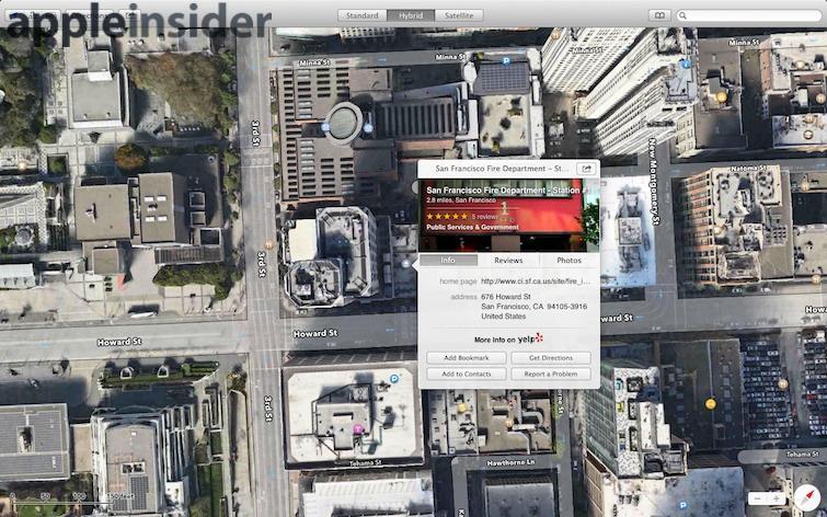 OS X Mavericks Maps