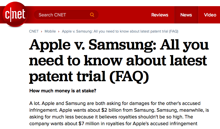 Samsung now believes royalties shouldn't be so high