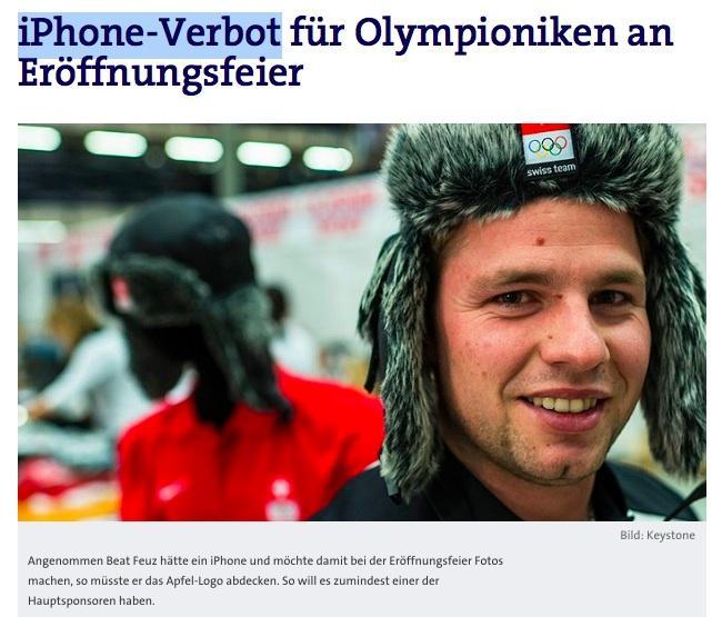 Samsung's Sochi Olympics iPhone ban