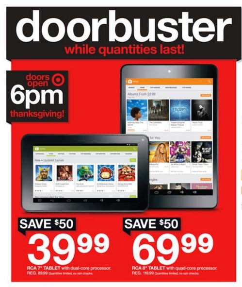 Target doorbuster bad Android tablet
