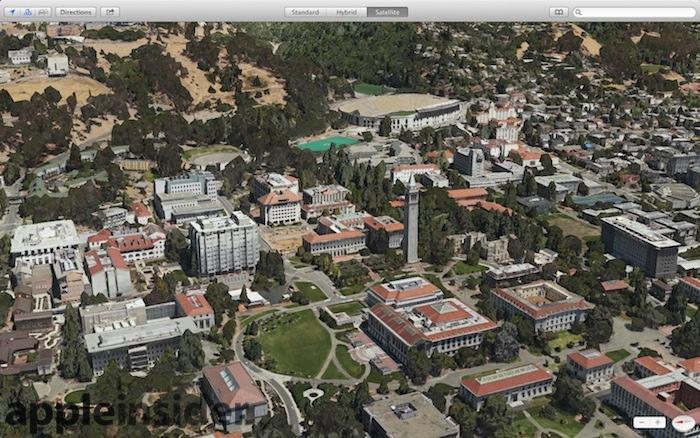 UC Berkeley Apple Maps Flyover